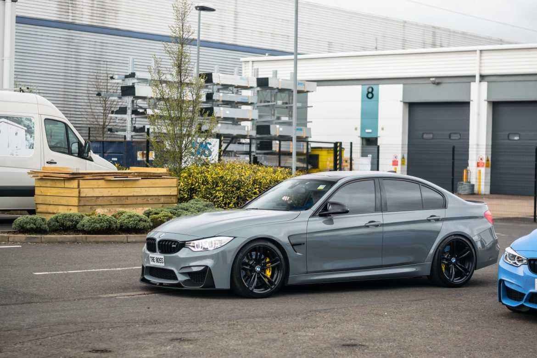 Nardo Grey BMW M3 at Cars and coffee