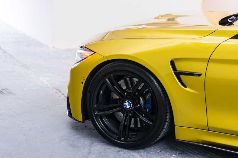 Austin yellow BMW M4 wheels