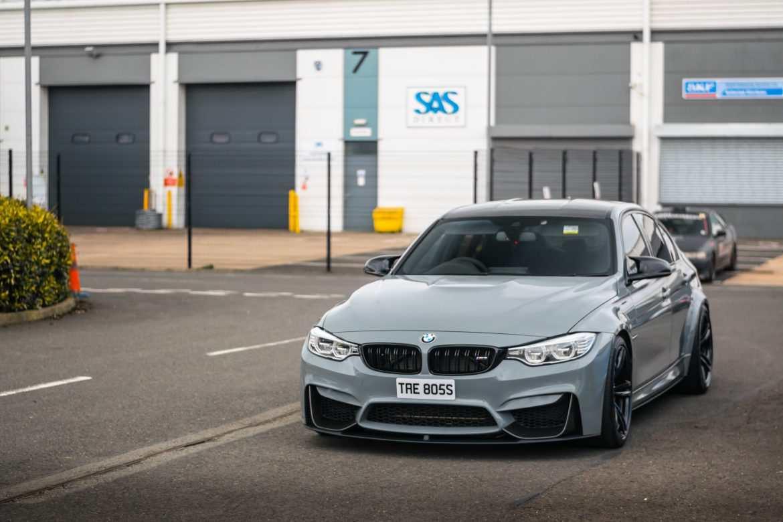 Nardo Grey BMW M4 in the carpark