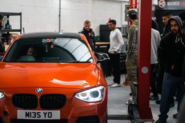 BMW M135i in orange front