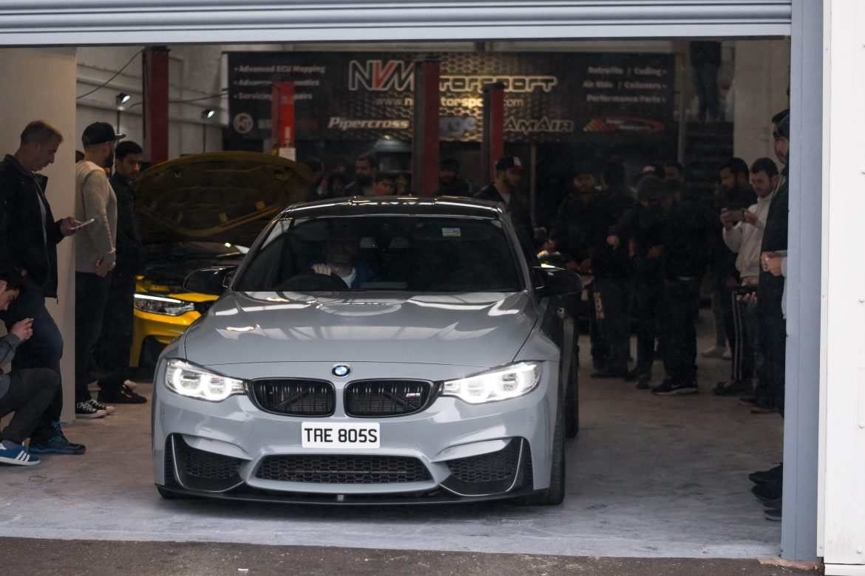 Nardo Grey BMW M3 F80 at NVM front