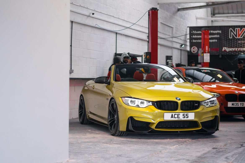 Austin Yellow BMW M4 F83 at NVM