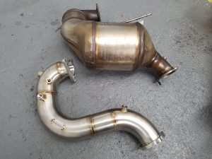 audi a5 3.0 tdi stanless steel downpipe