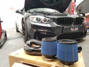 F83 BMW M4 BMS cold air intake infront of car