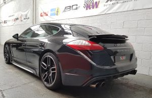 Porsche panamera turbo s rear left view NVM