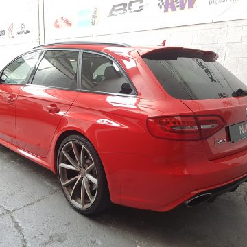 Audi RS4 B8 Scorpion Valved Exhaust fitted at NVMotorsport