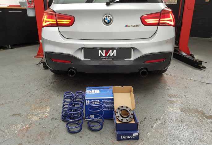 BMW M135i Lci H&R lowering springs install